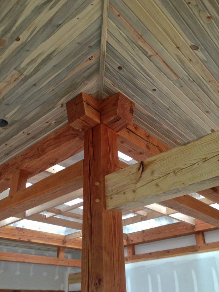 Interior timber frame