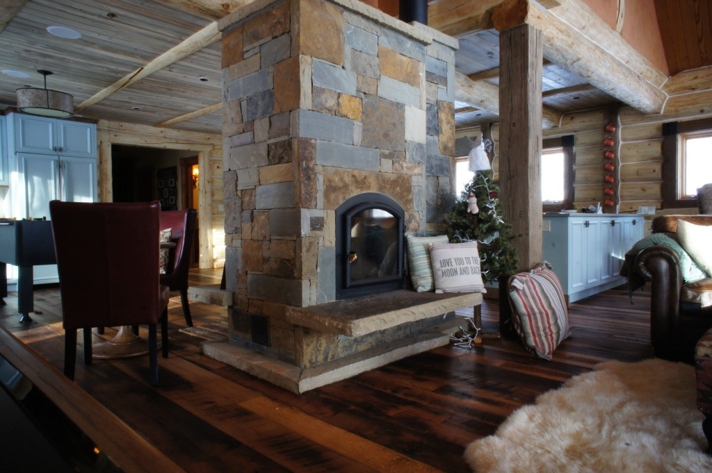 colorado cabin fireplace